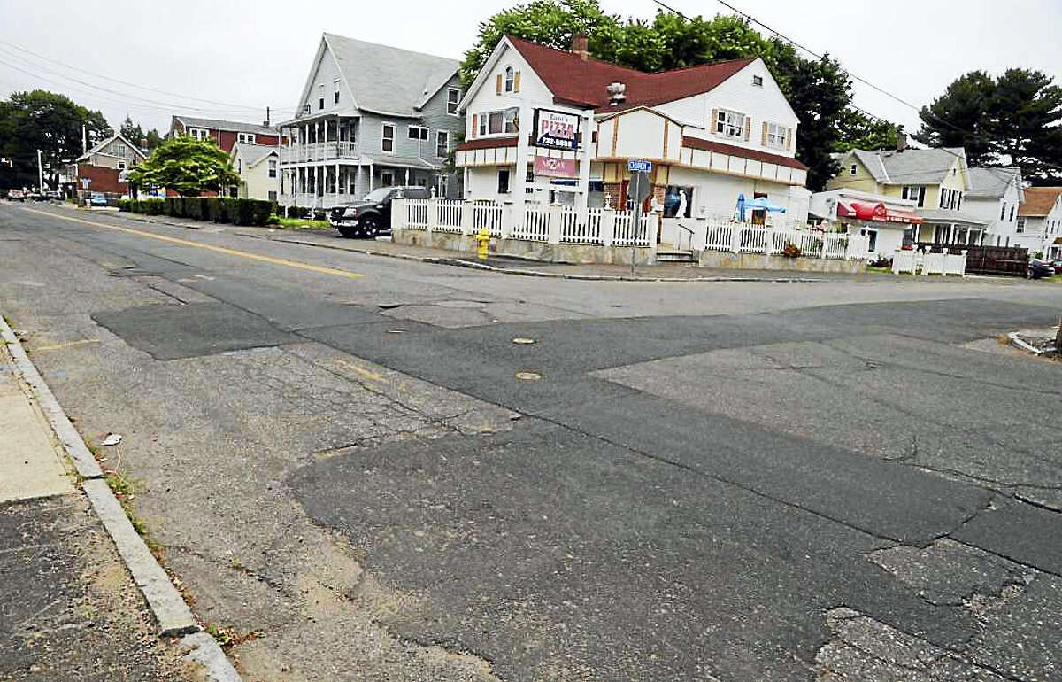 Views of shoddy roadwork along Wakelee Avenue between Jackson Street to Division Street in Ansonia, on June 16, 2017. Eversource Energy outsourced road repair work which has brought many complaints from businesses and residents along the busy stretch of roadChristian Abraham - Hearst Connecticut Media