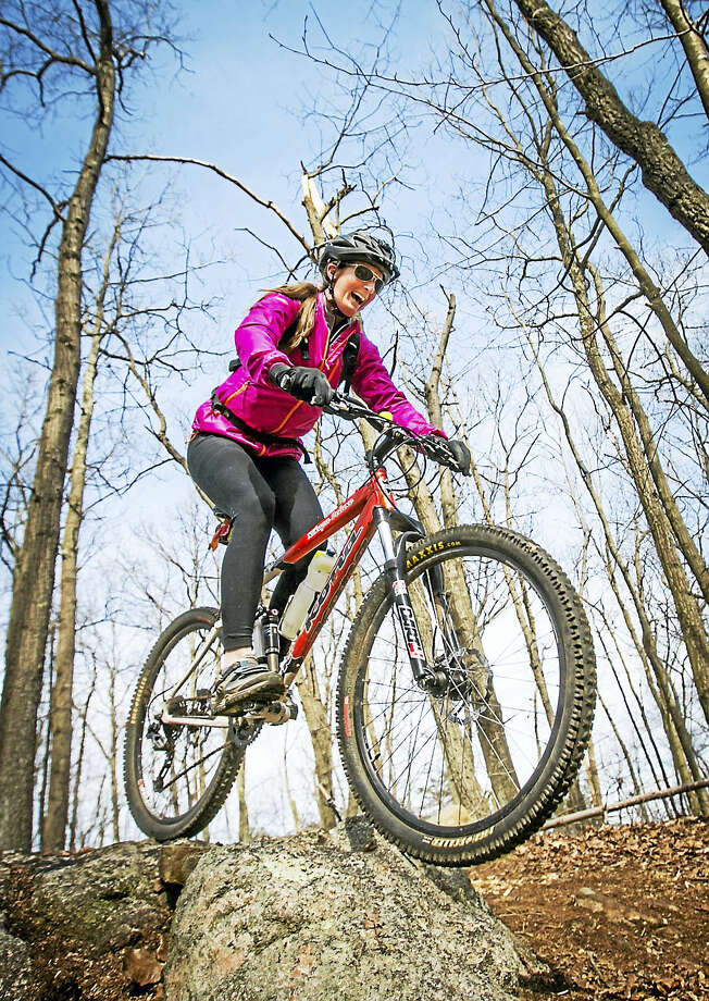 Folks are enjoying the trail at Rockland Preserve now in North Madison, but want to expand it into a full-fledged bike park. Photo: Courtesy - Coppola Photography   / Coppola Photography