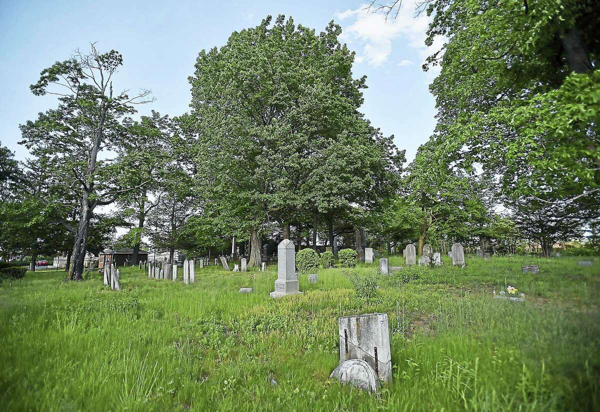 The State Street Cemetery at 2150 State Street in Hamden Friday was established in 1799.