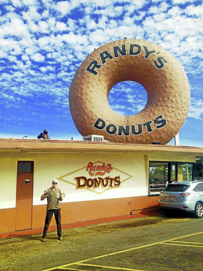 Columnist Randall (Randy) Beach journeyed 3,000 miles to sample his namesake's famed donuts in Inglewood, California. He was not disappointed. (He also visited his two daughters in L.A.) Photo: Contributed Photo By Charlotte Beach