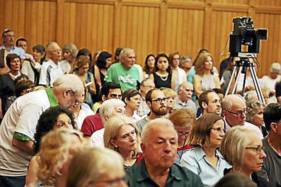 Standing room only crowd Photo: Christine Stuart — Ctnewsjunkie