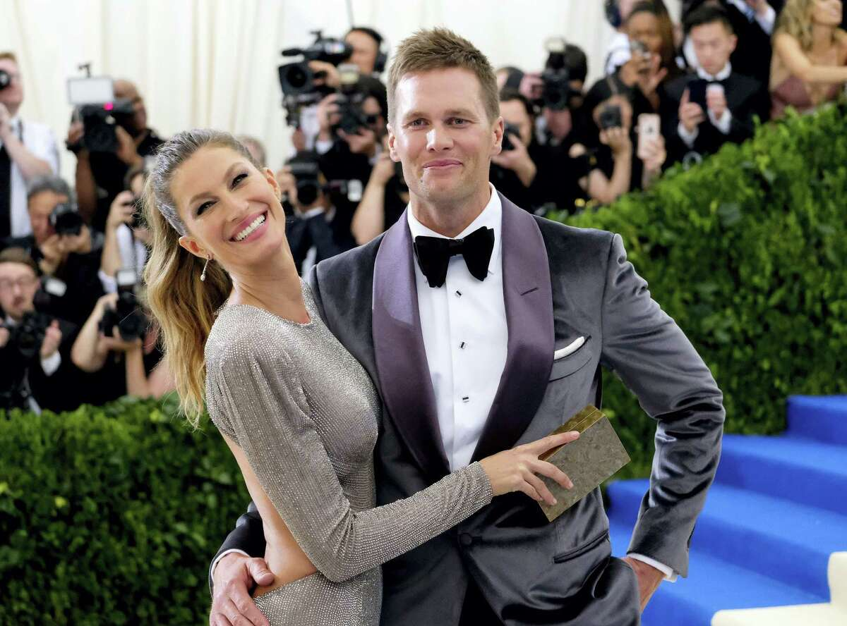 Gisele Bundchen, left, and Tom Brady attend The Metropolitan Museum of Art's Costume Institute benefit gala.