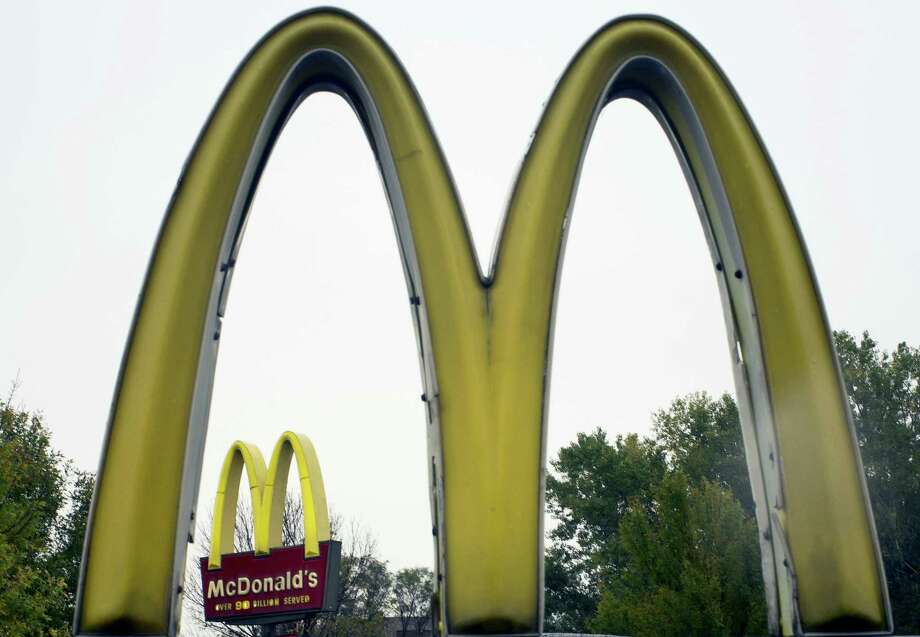 FILE - This Oct. 21, 2011 file photo shows the golden arches of McDonalds, in Omaha, Neb.,  McDonald's has ended its Olympic sponsorship deal three years early. The International Olympic Committee says confidential financial terms of the immediate separation were agreed to. Photo: THE ASSOCIATED PRESS