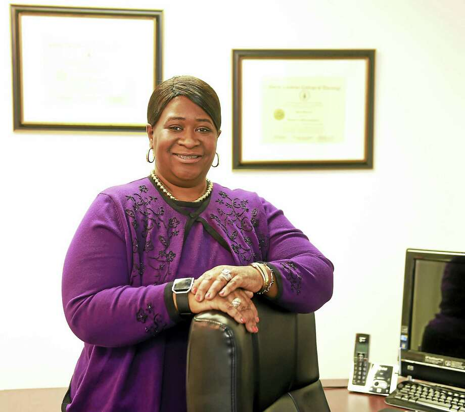Joyce Bellamy, CEO and CFO of Best Choice Health Care of Hamden in her office. Photo: Peter Hvizdak — New Haven Register   / ©2017 Peter Hvizdak