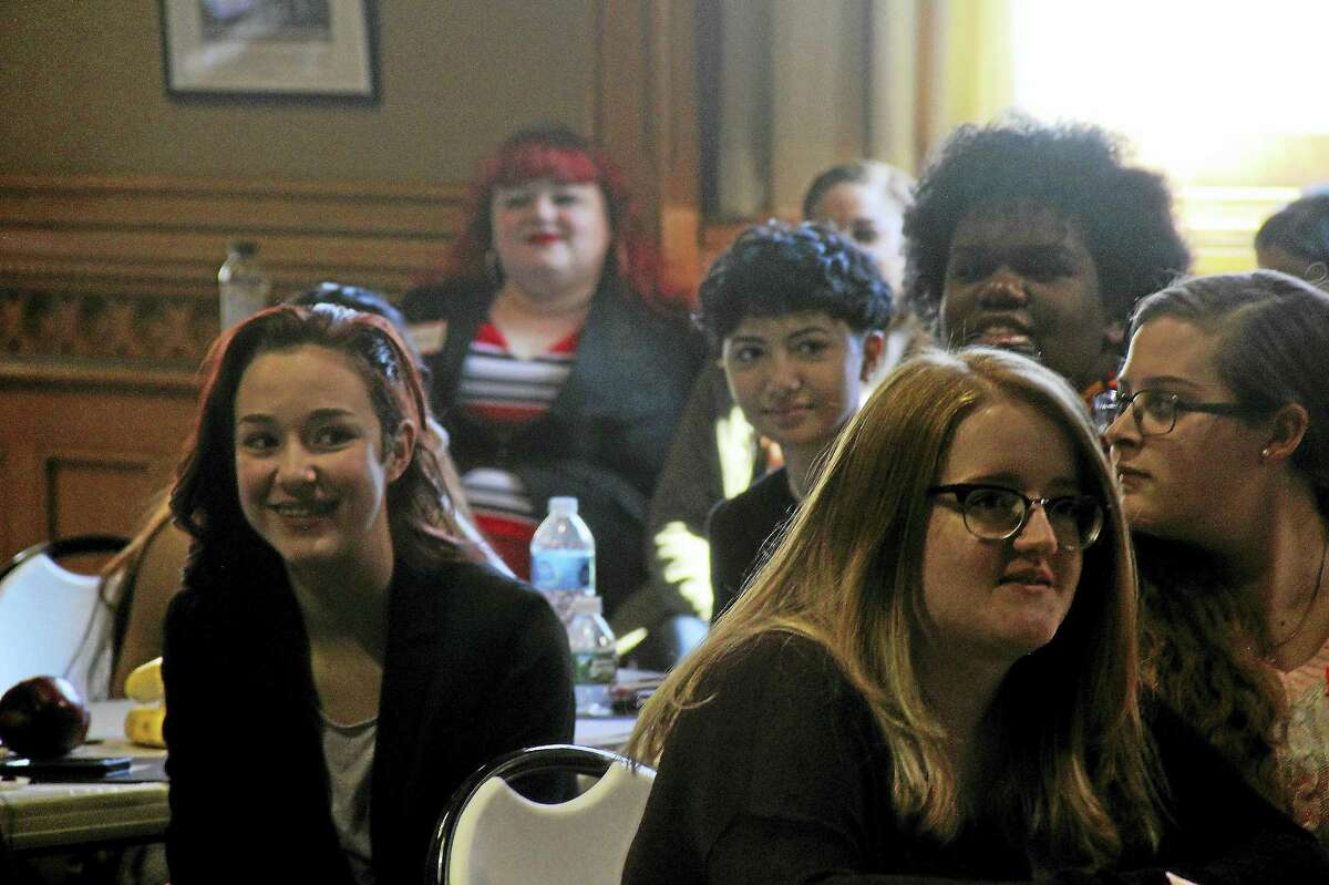 Young women hear stories of Connecticut's successful women during Girl's Day at the Capitol Wednesday.