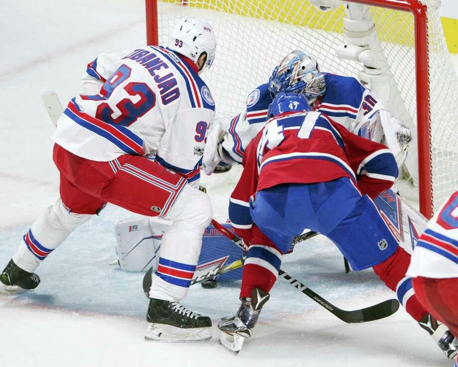 Canadiens right wing Alexander Radulov (47) scores the winning goal on Friday. Photo: Ryan Remiorz — The Canadian Press Via AP   / The Canadian Press
