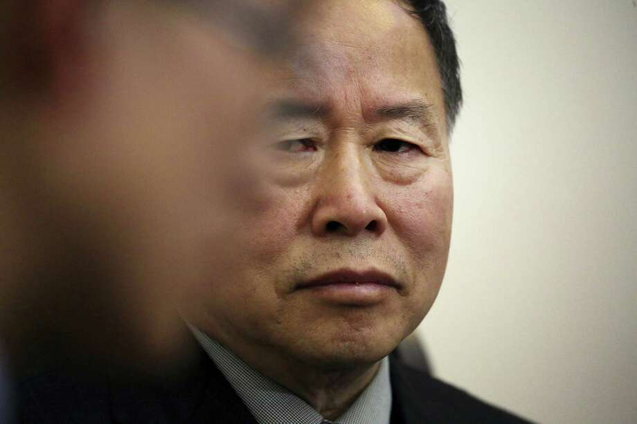 """Han Song Ryol, North Korea's vice foreign minister, listens to a translator during an interview with The Associated Press on Friday in Pyongyang, North Korea. Han Song Ryol said the situation on the Korean Peninsula is now in a """"vicious cycle."""" Photo: Wong Maye-E — The Associated Press   / Copyright 2017 The Associated Press. All rights reserved."""