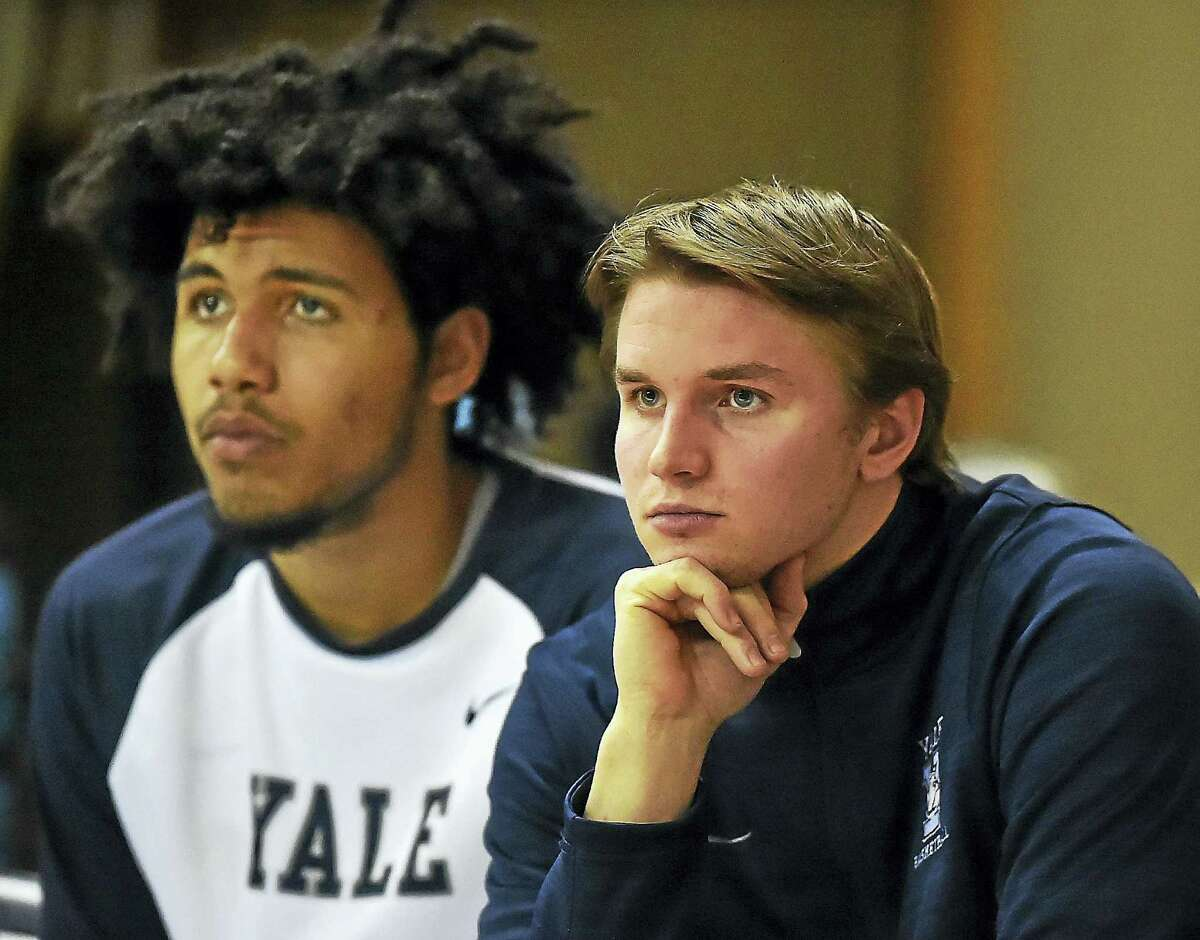 Yale junior guard Makai Mason looks on during Friday's game against Princeton at the John J. Lee Amphitheater.