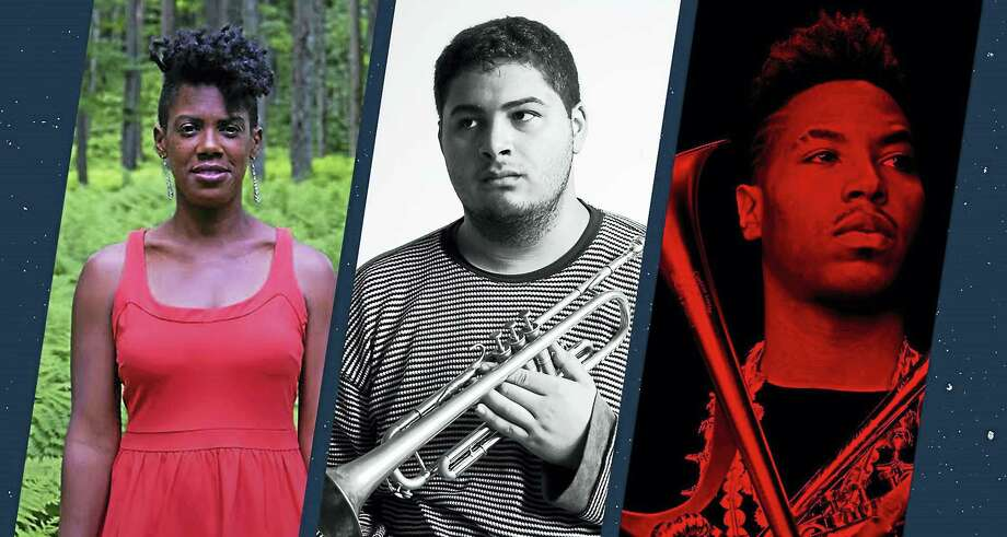 From left, M'Balia, Adam O'Farrill and Christian Scott will perform at the jazz fest. Photo: Photos Courtesy Of Undergraduate Jazz Collective
