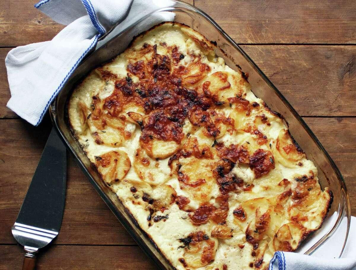 Thyme and Yukon gold potato gratin