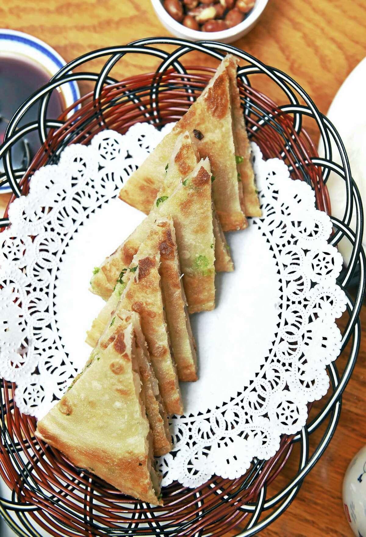 Scallion pancakes at Yao's Diner.