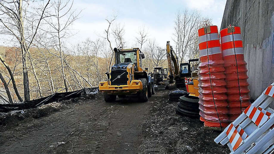 A portion of Route 67 near the southbound Route 8 entrance ramp downtown will be closed starting Monday so ongoing construction to the town's first scenic greenway trail and linear park can kick into high gear. Photo: CONTRIBUTED PHOTO