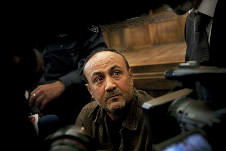 Jailed Senior Fatah leader Marwan Barghouti appears in a Jerusalem court. Qadoura Fares, an advocate for prisoners' rights, said that more than 1,500 Palestinian prisoners have launched an open-ended hunger strike to demand better conditions in Israeli prisons. Photo: Bernat Armangue — The Associated Press   / Copyright 2017 The Associated Press. All rights reserved.