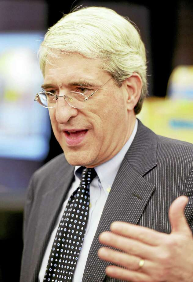 Yale University President Peter Salovey at the Stetson branch library in New Haven. Photo: Register File Photo