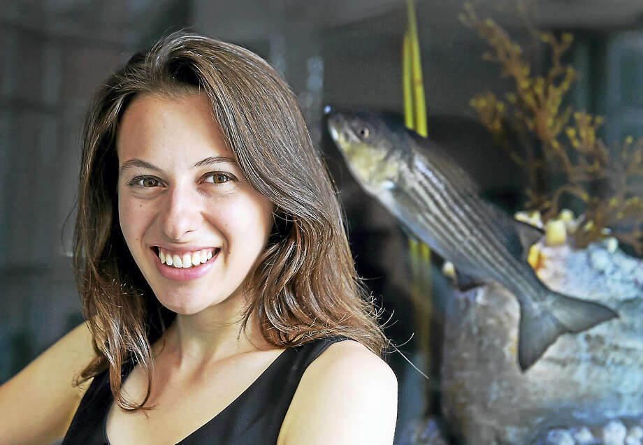 Sara Beland of Woodbridge researched and wrote a mathematical model of sea level rise in New Haven. Photo: Peter Hvizdak — New Haven Register   / ©2017 Peter Hvizdak