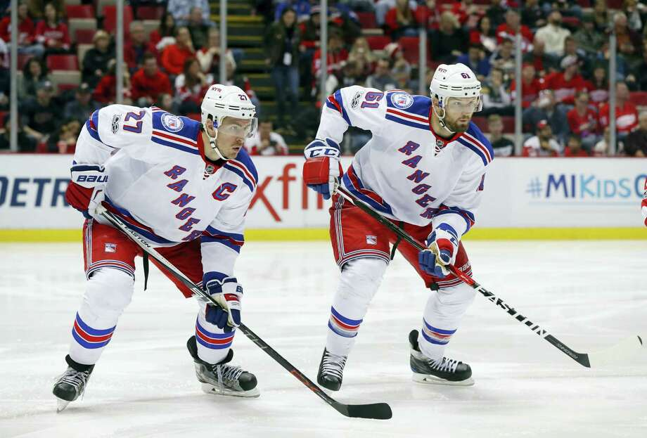 Rangers defenseman Ryan McDonagh (27) and Rick Nash (61). Photo: The Associated Press File Photo   / Copyright 2017 The Associated Press. All rights reserved.