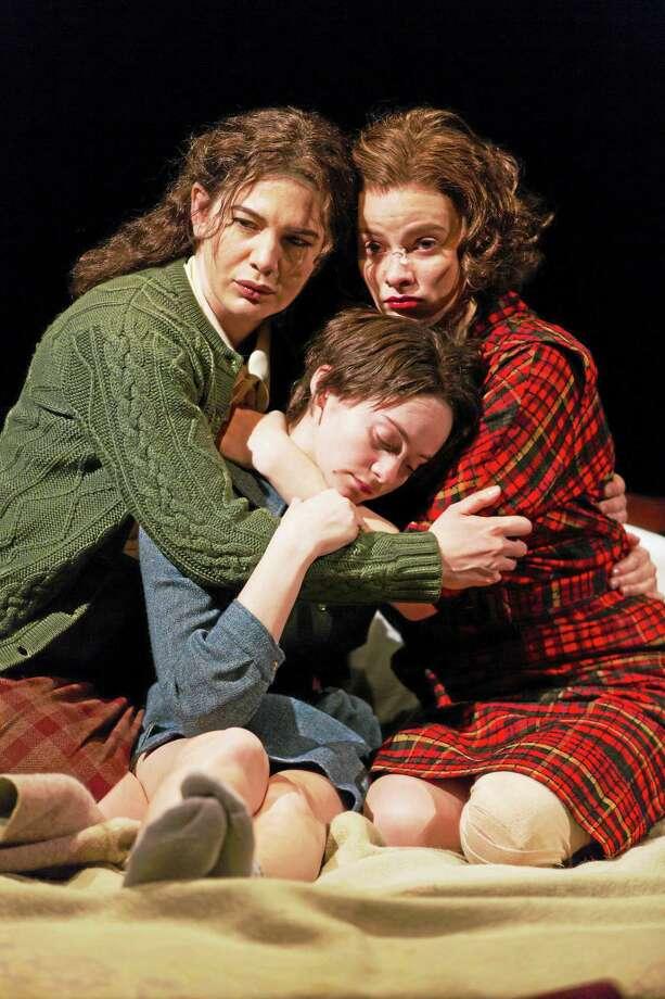 "From left, Christina Pumariega, Jordyn DiNatale and Carolyn Braver in ""Napoli, Brooklyn."" Photo: Photo Courtesy Of T. Charles Erickson — Long Wharf Theatre   / T Charles Erickson"