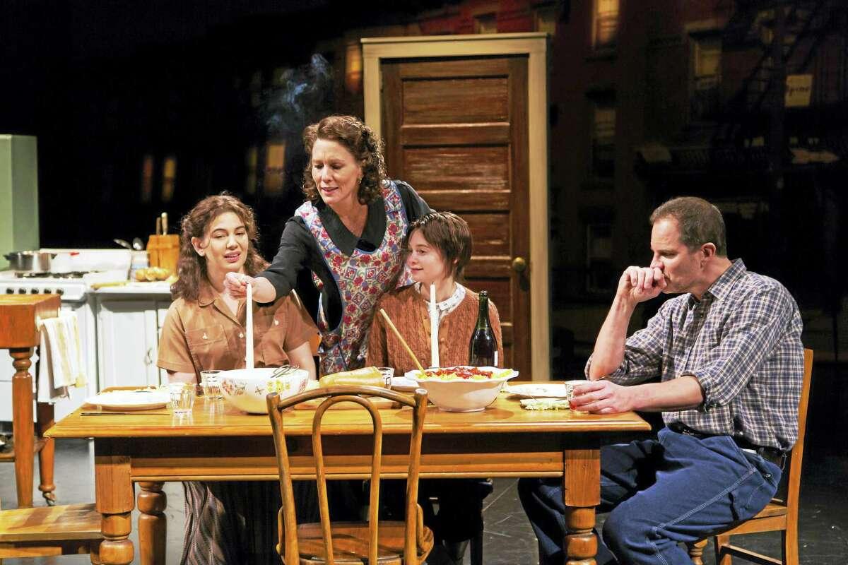 From left, Christina Pumariega, Alyssa Bresnahan, Jordyn DiNatale and Jason Kolotouros in a scene from the Long Wharf play.