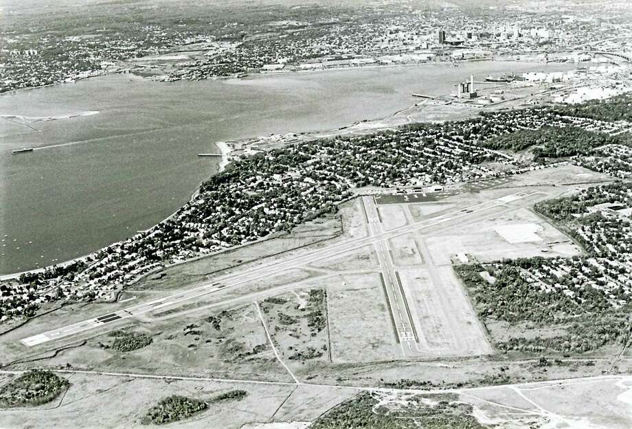 Aerial view of Tweed-New Haven Airport. Photo: Journal Register Co. File Photo