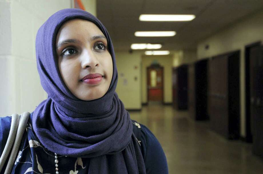 Towson high school student Amara Majeed has provided commentary for CNN on issues affecting the Muslim community. She founded The Hijab Project, which is meant to foster social awareness of prejudice in the United States against girls and women who wear head-scarves. She also wrote a book of biographies on Muslims to help dispel disparaging opinions that people have of Muslims. Photo: Algerina Perna/Baltimore Sun/TNS / Baltimore Sun