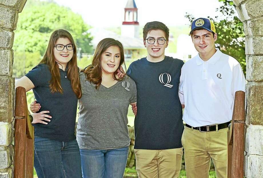 From left, quadruplets Anna, Sofia, Vincent and Michael Ciacciarella of Naugatuck will be heading to Quinnipiac University in fall. Photo: Peter Hvizdak — New Haven Register   / ©2017 Peter Hvizdak