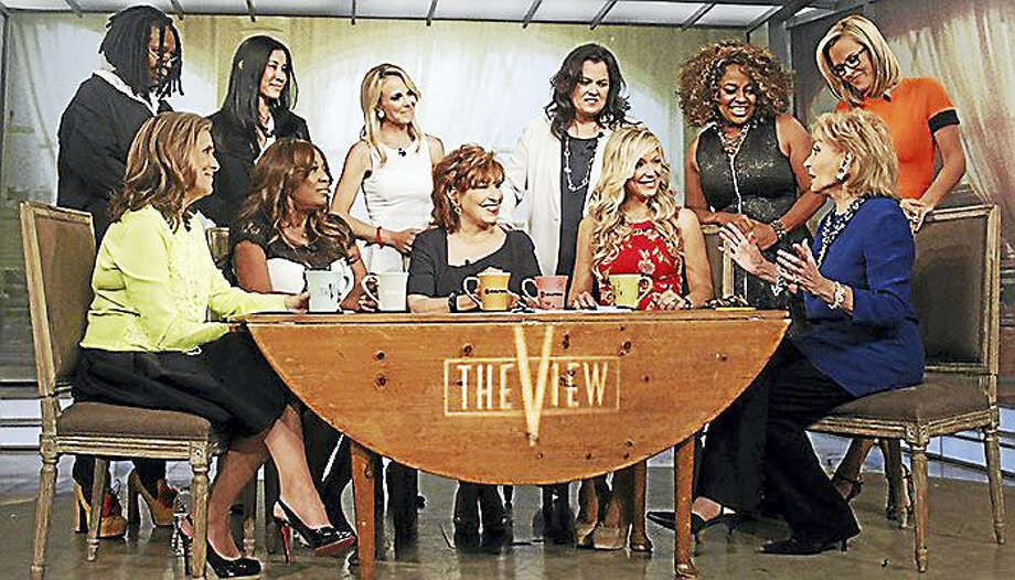 """Some of the ladies of """"The View"""" assemble on camera. Photo: AP Photo/ABC"""