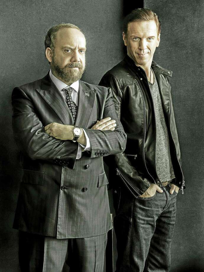 "Paul Giamatti, left, as Chuck Rhoades and Damian Lewis as Bobby ""Axe"" Axelrod. Photo: Photo Courtesy Of James Minchin — Showtime   / Copyright:  2015 Showtime"