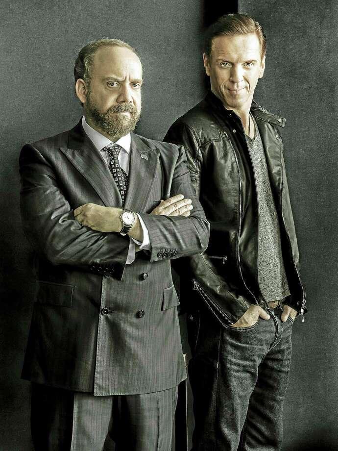 "Paul Giamatti, left, as Chuck Rhoades and Damian Lewis as Bobby ""Axe"" Axelrod. Photo: Photo Courtesy Of James Minchin — Showtime   / Copyright:  2015 Showtime"