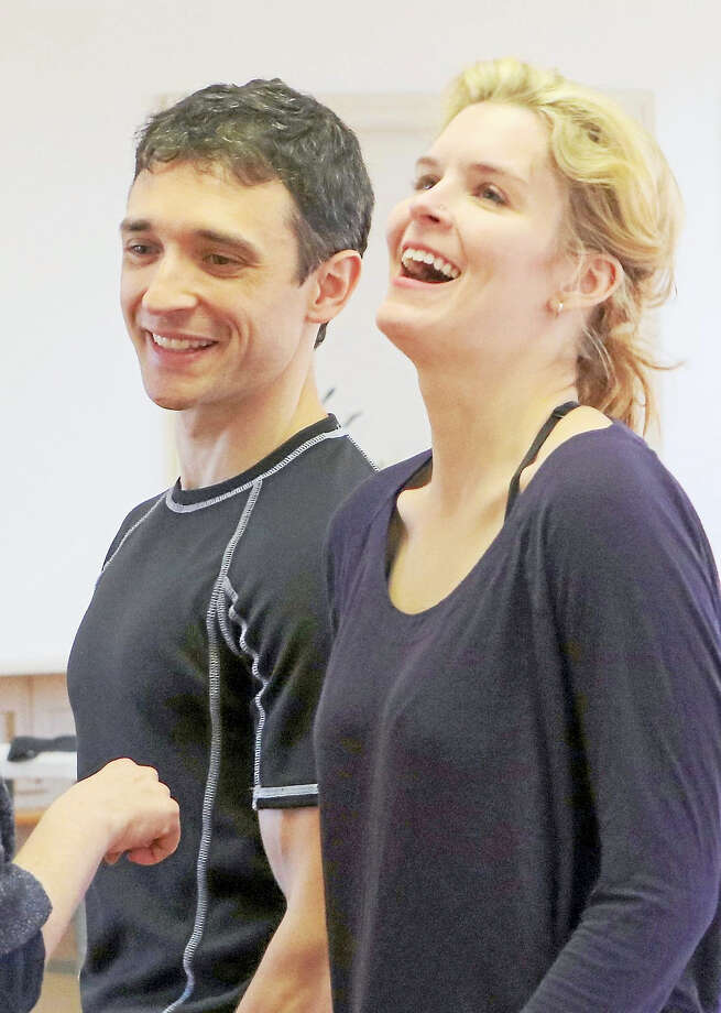 Rick Faugno and Lauren Gire at a rehearsal. Photo: Photo Courtesy Of Anne Hudson