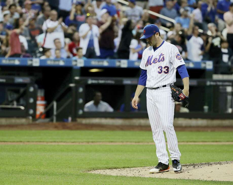 Mets starting pitcher Matt Harvey will be out several weeks with a shoulder injury. Photo: The Associated Press File Photo   / Copyright 2017 The Associated Press. All rights reserved.