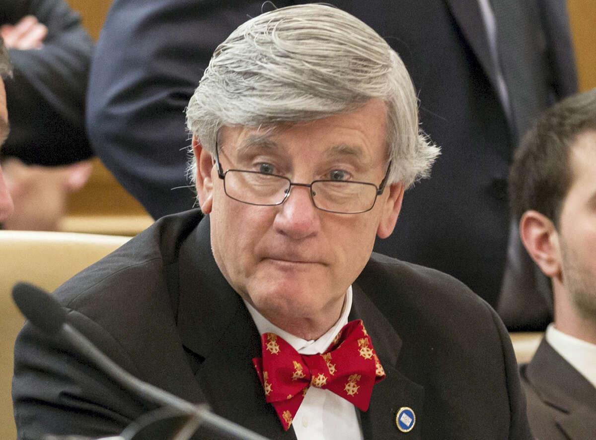 In this Feb. 4, 2015 photo, state Sen. Todd Gardenhire, during a Senate Health Committee meeting in Nashville, Tenn. Twenty states already offer cheaper in-state tuition to students who are in the country illegally. Legislation making its way through the Tennessee Legislature would make it the 21st. The bill was proposed by Gardenhire, who argues that immigrants with college degrees will earn higher incomes and pay higher taxes, among other benefits.