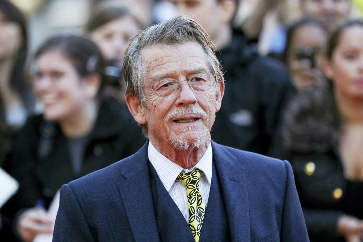 """British actor and cast member John Hurt arriving for the UK film premiere of """"Tinker Tailor Soldier Spy"""" at the BFI Southbank in London in 2011. The great and versatile actor Hurt, who could move audiences to tears in """"The Elephant Man,"""" terrify them in """"Alien,"""" and spoof that very same scene in """"Spaceballs,"""" has died at age 77. Hurt, who battled pancreatic cancer, passed away Friday, Jan. 27, 2017, in London according to his agent Charles McDonald."""