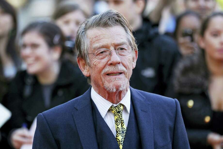 """British actor and cast member John Hurt arriving for the UK film premiere of """"Tinker Tailor Soldier Spy"""" at the BFI Southbank in London in 2011. The great and versatile actor Hurt, who could move audiences to tears in """"The Elephant Man,"""" terrify them in """"Alien,"""" and spoof that very same scene in """"Spaceballs,"""" has died at age 77.  Hurt, who battled pancreatic cancer, passed away Friday, Jan. 27, 2017, in London according to his agent Charles McDonald. Photo: Sang Tan — AP File Photo / AP2011"""