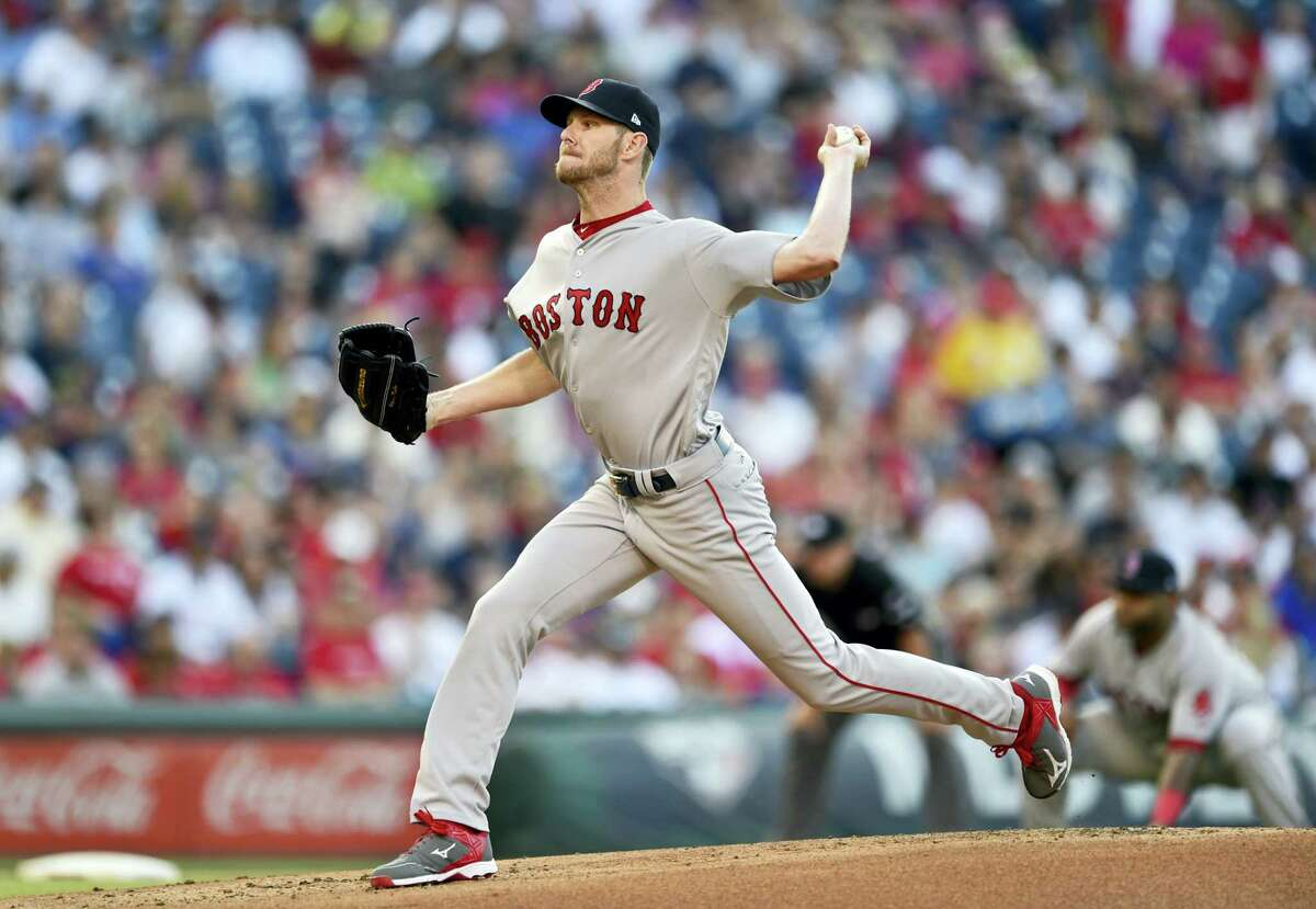 Red Sox starting pitcher Chris Sale throws during Thursday's game.