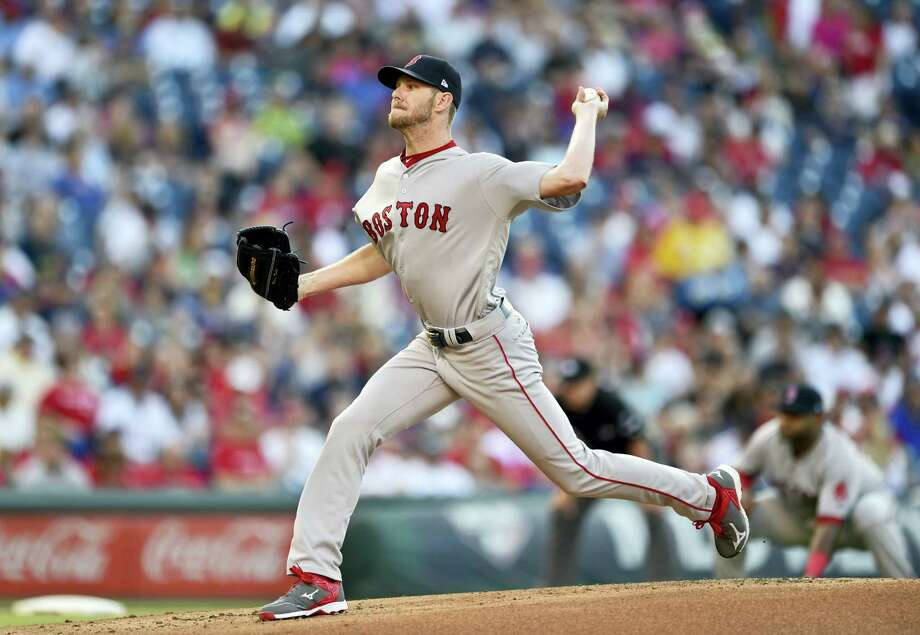Red Sox starting pitcher Chris Sale throws during Thursday's game. Photo: Derik Hamilton — The Associated Press   / FR170553 AP