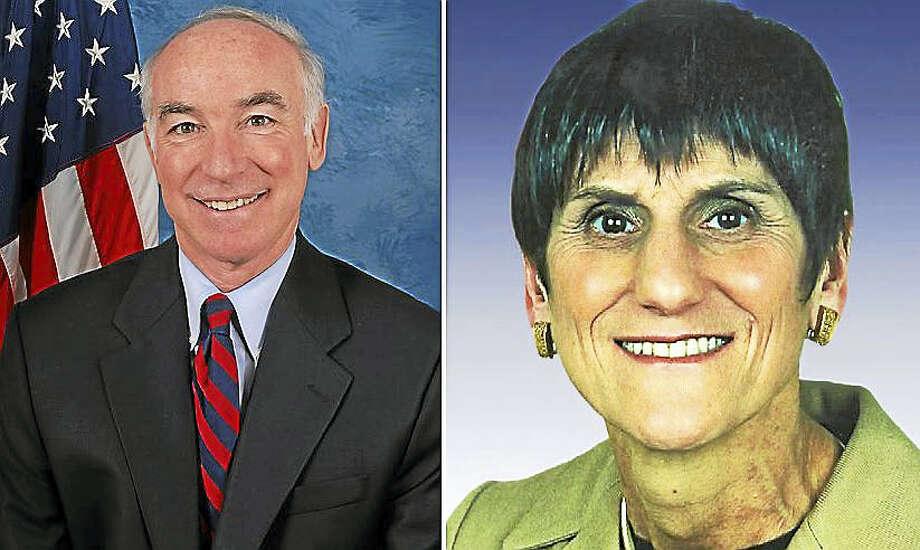 U.S. Reps. Joe Courtney and Rosa DeLauro Photo: File Photos