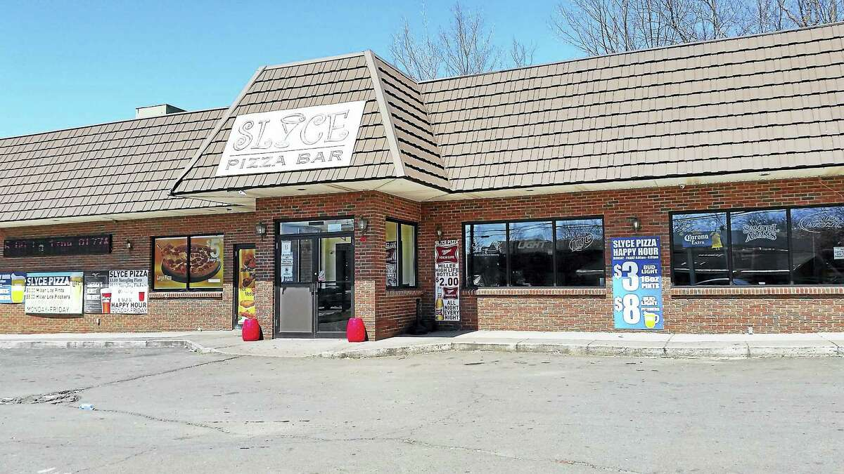Slyce Pizza Bar on Arch Street was closed Sunday afternoon after a shooting was reported around 2:20 a.m. on April 9, 2017. Hamden police are investigating the incident, which left two males injured, ages 26 and 28.