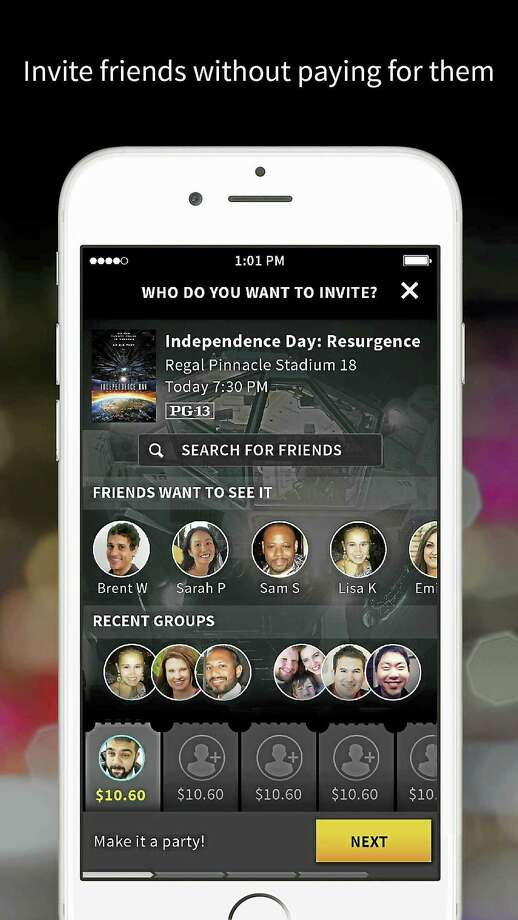 A screen shot that is part of Atom's marketing of its movie app. Photo: Contributed