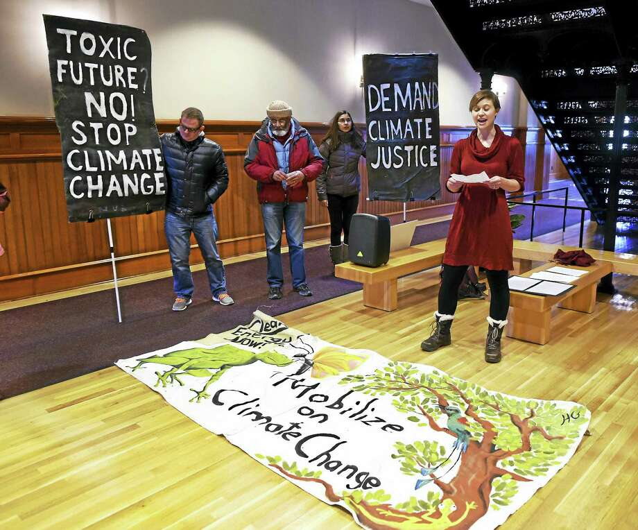Shannon Laun, energy and environment attorney at Connecticut Fund for the Environment, speaks at New Haven City Hall in 2016. Photo: Peter Hvizdak — New Haven Register FILE PHOTO   / ?2016 Peter Hvizdak