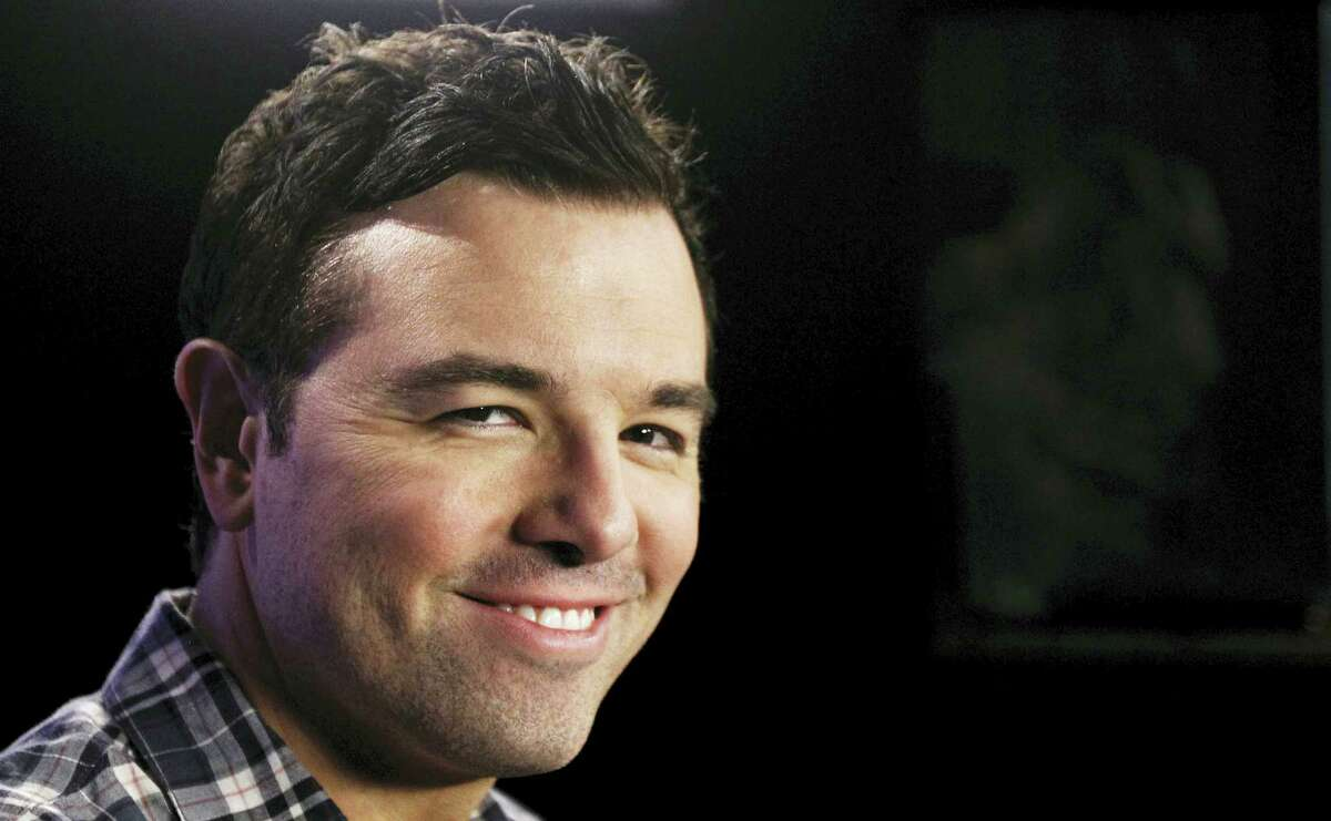 """FILE - In this Oct. 1, 2011, file photo, Seth MacFarlane poses for a portrait in Los Angeles. Fox TV is calling on superpowers and MacFarlane to draw viewers this fall 2017. """"The Orville,"""" a new space adventure starring and produced by MacFarlane, is set 400 years in the future. It follows the adventures of an exploratory spaceship."""