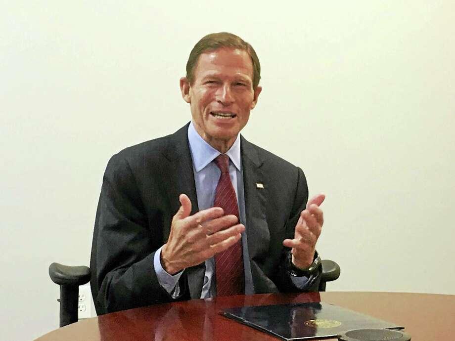 U.S. Sen. Richard Blumenthal Photo: NEW HAVEN REGISTER FILE PHOTO