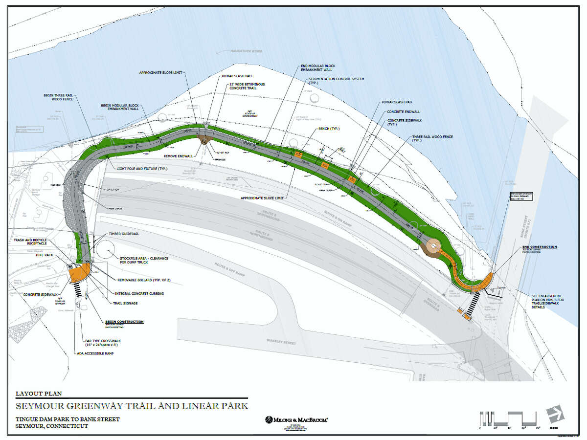 Seymour's Construction to the town's first scenic greenway trail and linear park will get underway April 1.