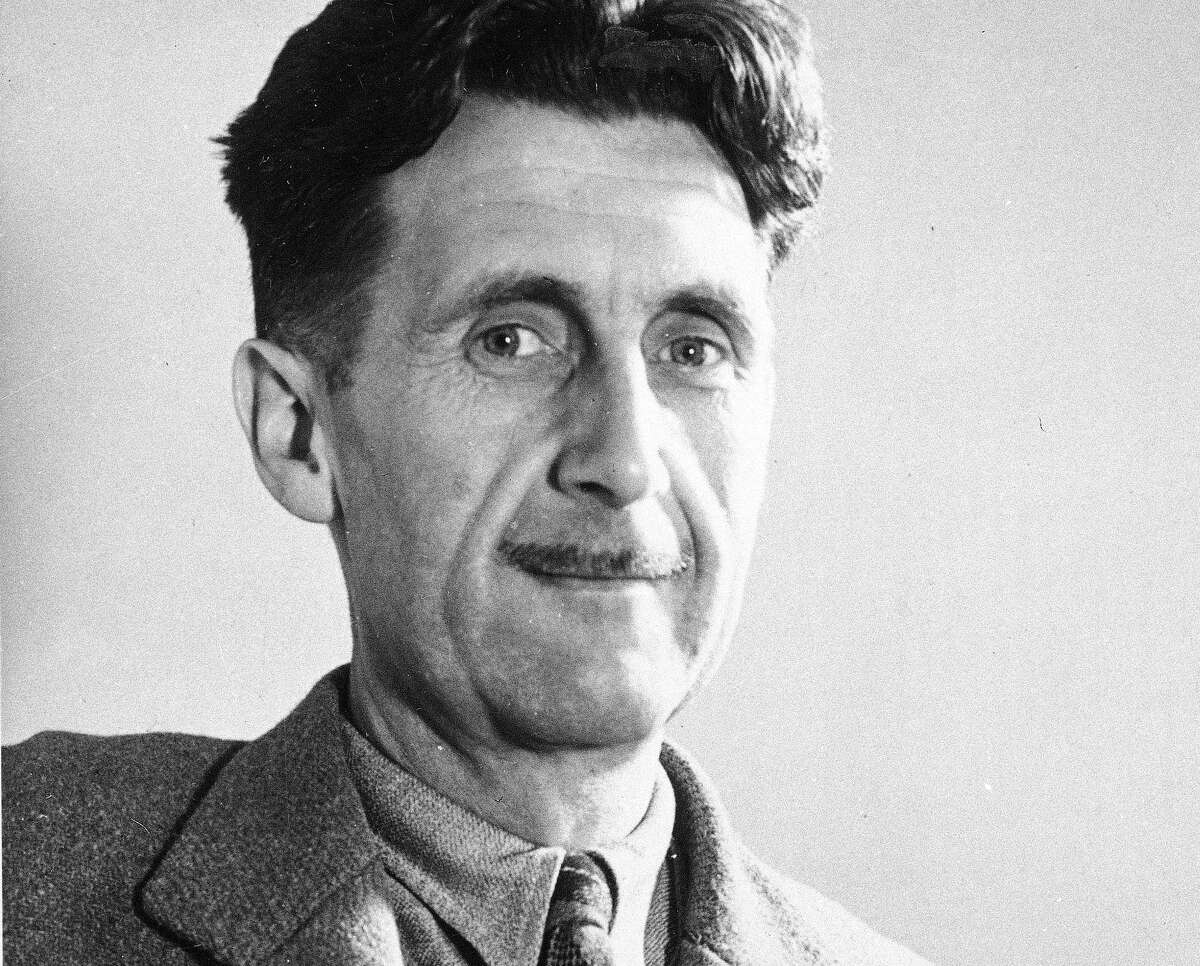 "This undated file photo shows writer George Orwell, author of ""1984."""