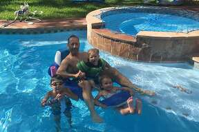 During his medical leave, KENS anchorman Barry Davis spent some lovely time in his new pool with his three kids. After a sometimes painful recovery from prostate surgery, the newscaster returns to his morning and noon posts this week.