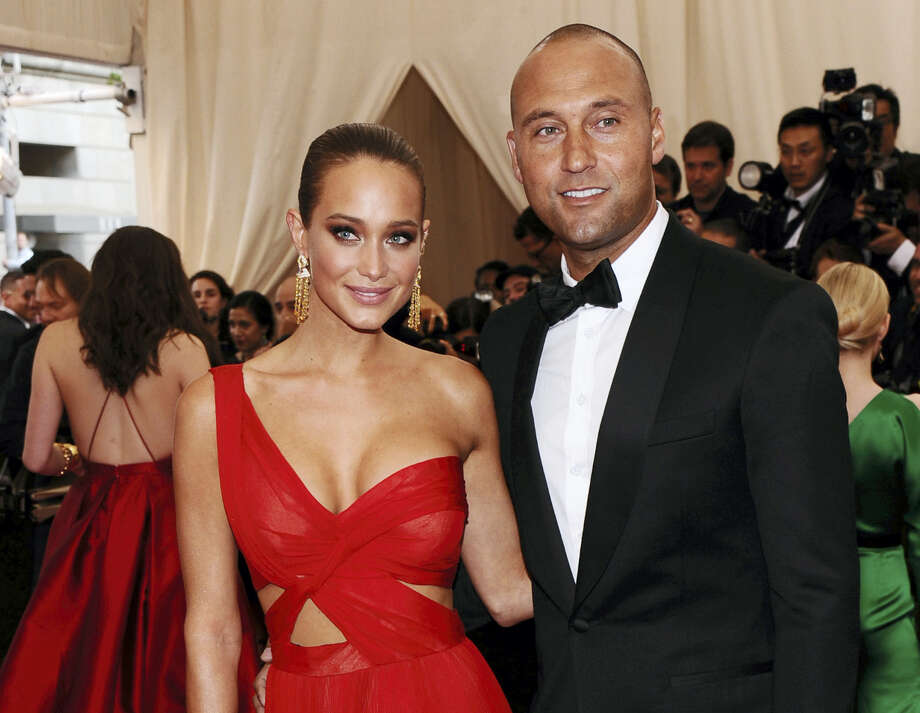 Derek Jeter, right, and wife Hannah Davis. Photo: The Associated Press File Photo   / Invision