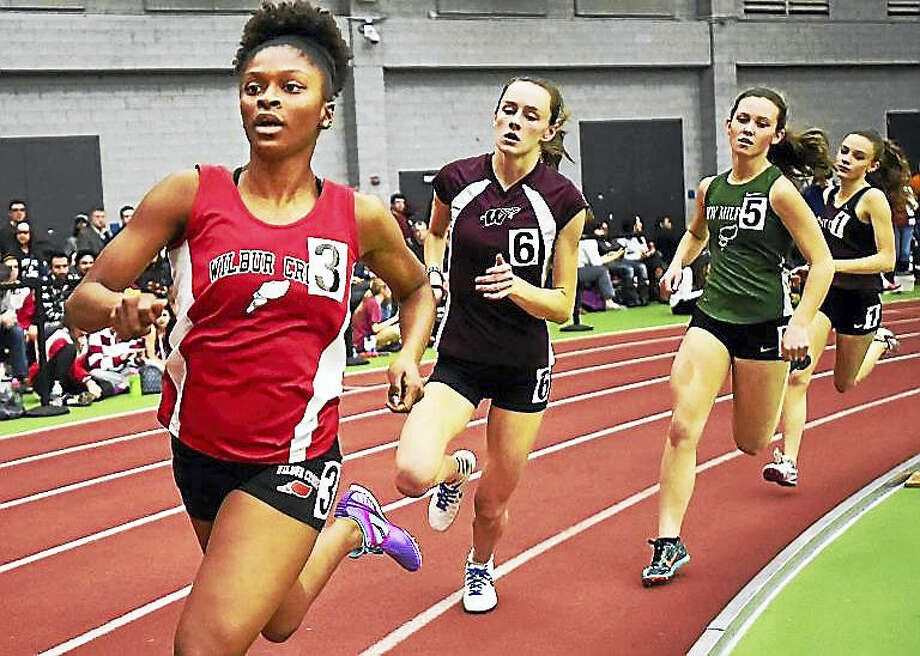 Wilbur Cross senior Leah Rivers won the 600 meter run in 1:39 in the class L track and field championships this weekend at the Floyd Little Athletic Center in New Haven. Rivers placed second in the 300 meter dash in 43.33. Photo: Catherine Avalone — New Haven Register