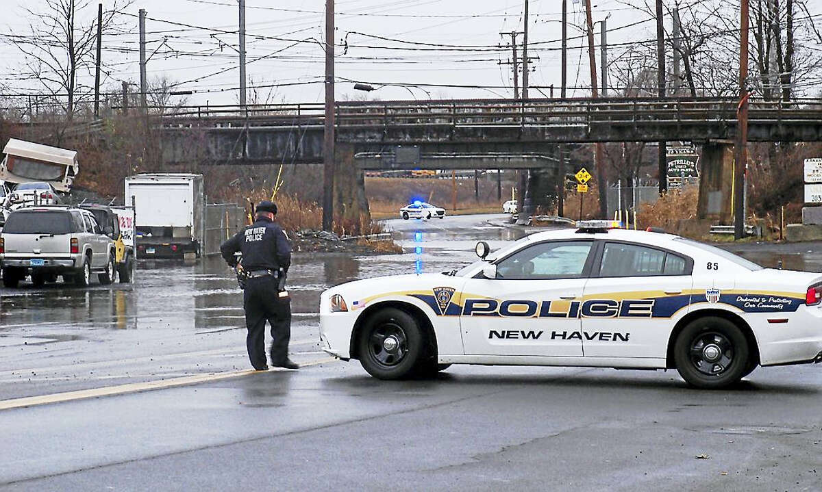 Part of Middletown Avenue in New Haven was shut down Tuesday morning because the road had flooded. The road reopened to traffic a short time later. The National Weather Service said minor flooding was possible in and around the Elm City amid heavy rains.
