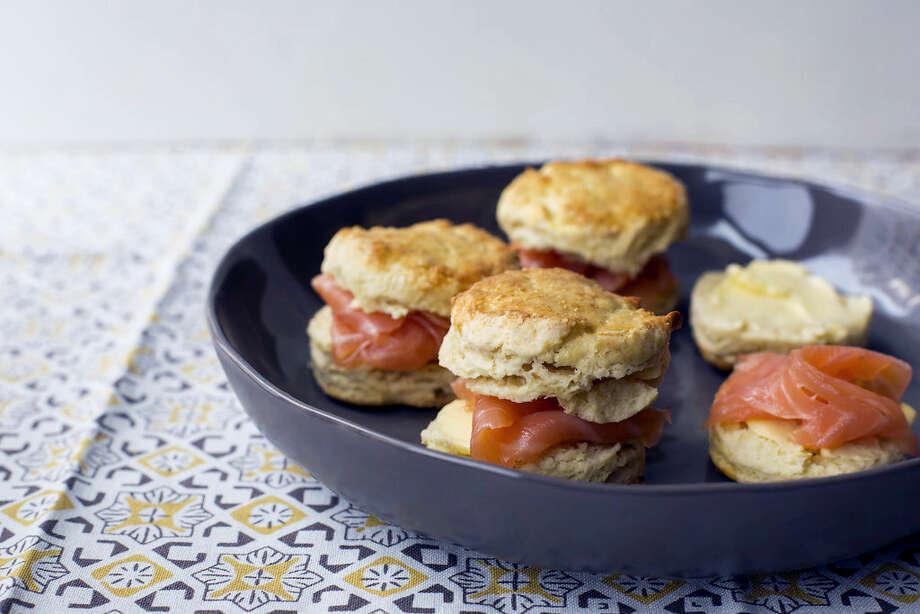 Irish scones with smoked salmon. Photo: Sarah Crowder Via AP   / Sarah E Crowder