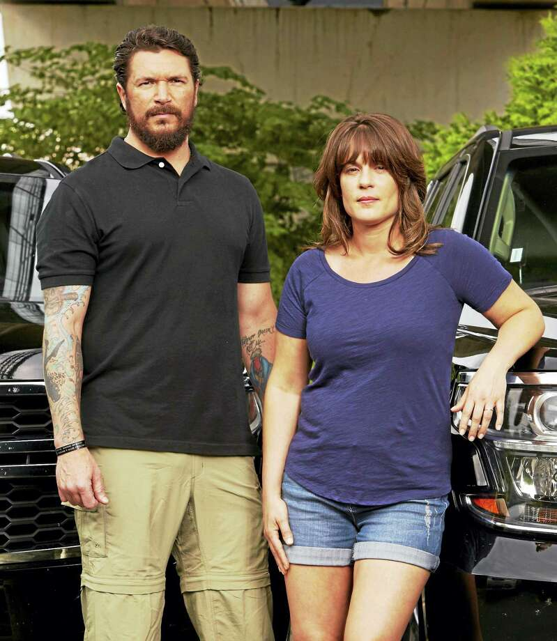 "Paul Rossi and Jacqui Bainer team up as hunters on ""Hunted."" Photo: Photo Courtesy Of Monty Brinton/CBS   / ©2016 CBS Broadcasting, Inc. All Rights Reserved     ?"