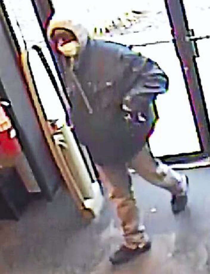 Police are looking for this man who they say robbed the EbLens on Foxon Road in East Haven on Tuesday. Photo: East Haven Police Department